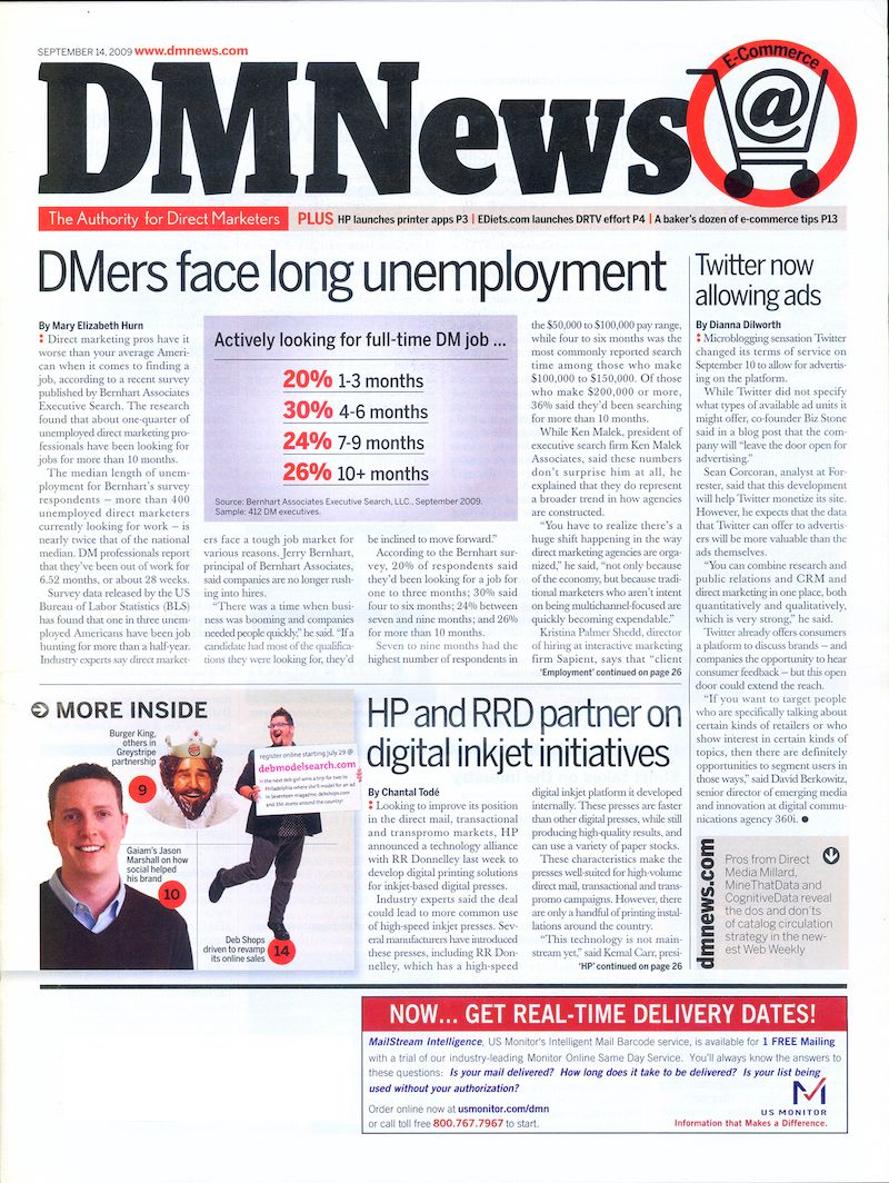 Bernhart Associates Headlines DM News