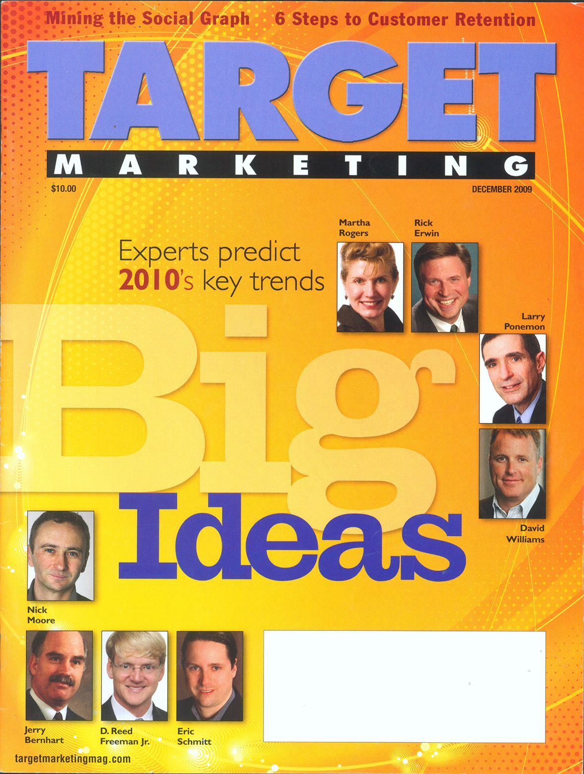 Jerry Bernhart on the cover of Target Marketing
